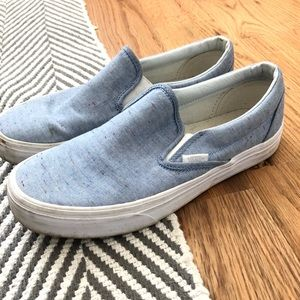 VANS - Slip On - Size 8 - light blue